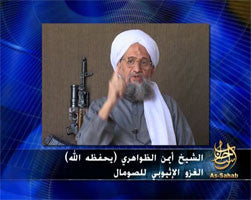 IntelCenter al-Qaeda Videos DVD V056: Ayman al-Zawahiri: Rise and Support Your Brothers in Somalia