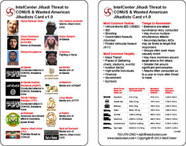 IntelCenter Jihadi Threat to CONUS & Wanted American Jihadists Card v1.0