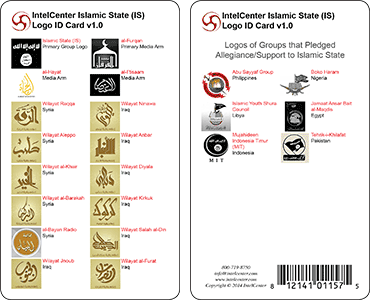 IntelCenter Islamic State (IS) Logo Identification Card v1.0
