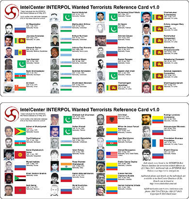 IntelCenter INTERPOL Wanted Terrorists Reference Card v1.0
