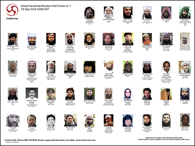 IntelCenter Jihadi Facial Identification Wall Chart v1.7 (Updated 19 Sep 2019)