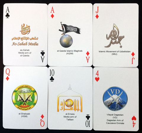 IntelCenter Jihadi Terrorist Group Logo Playing Cards
