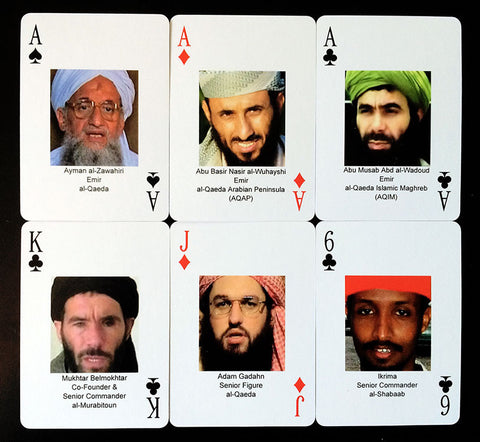IntelCenter Most Wanted Jihadi Terrorists Playing Cards