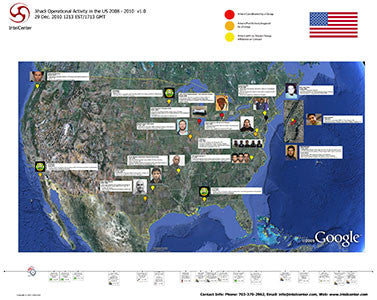 "IntelCenter Jihadi Operational Activity in the US: 2008 - 2010 44""x36"" Wall Chart v1.0"