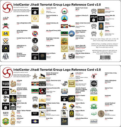 IntelCenter Jihadi Terrorist Group Logo Reference Card v2.0