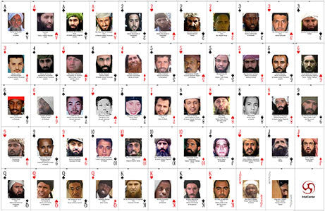 Collector's Uncut Sheet of IntelCenter's Most Wanted Jihadi Terrorists Playing Cards v1