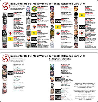 IntelCenter US FBI Most Wanted Terrorists Reference Card v1.0