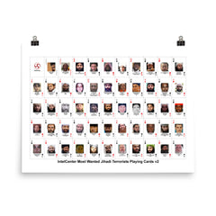 IntelCenter Most Wanted Jihadi Terrorists Playing Cards v2 Poster