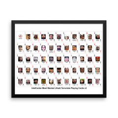 IntelCenter Most Wanted Jihadi Terrorists Playing Cards v2 Framed Print