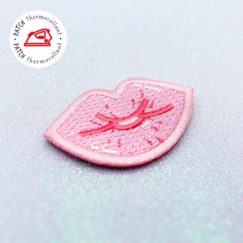 "Patch thermocollant ""Kiss"" rouge ou rose"
