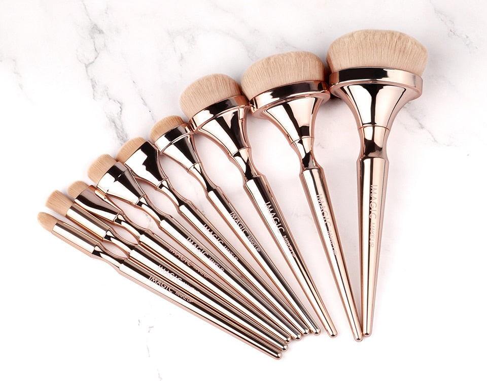 Gold Professional Makeup Brushes Set