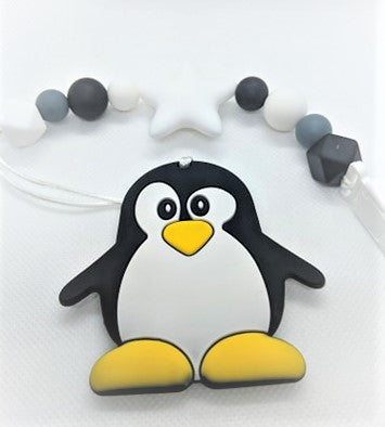 Penguin Chewlery Pacifier Clip