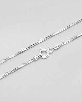 925 Sterling Silver Chain, Made in Italy.