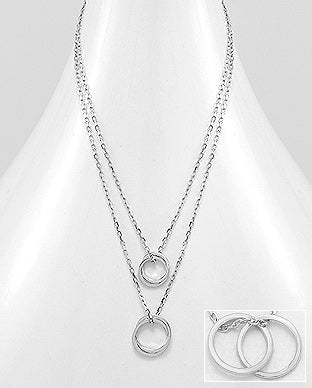 925 Sterling Silver Links Necklace