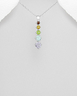 925 Sterling Silver Decorated with Various Gemstones