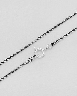 925 Sterling Silver Spiga Chain 18""