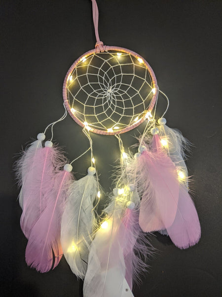 Single Hoop LED Dream Catcher