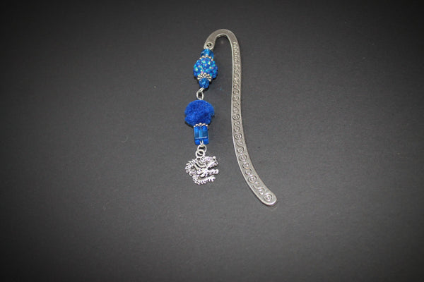 Blue and Silver Dragon Bookmark