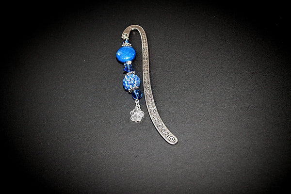 Blue and Silver Paw Bookmark