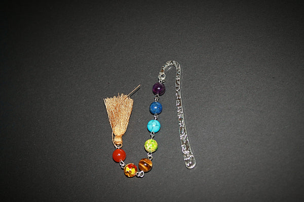 Rainbow Brown Tassel Bookmark