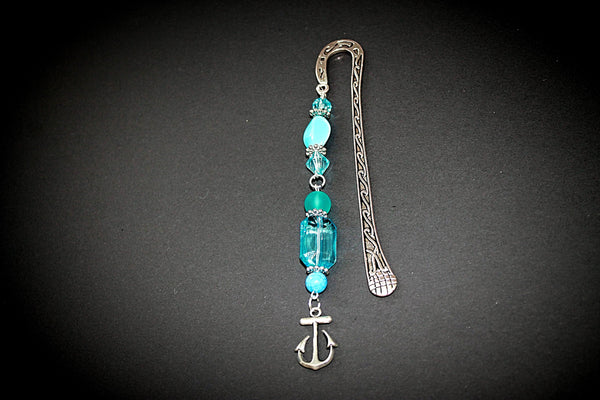 Blue and Silver Anchor Bookmark