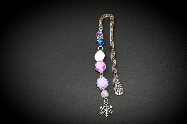 Purple and Silver Snowflake Bookmark