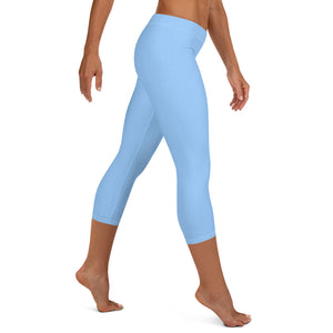 Sky Blue Low Waist Capri