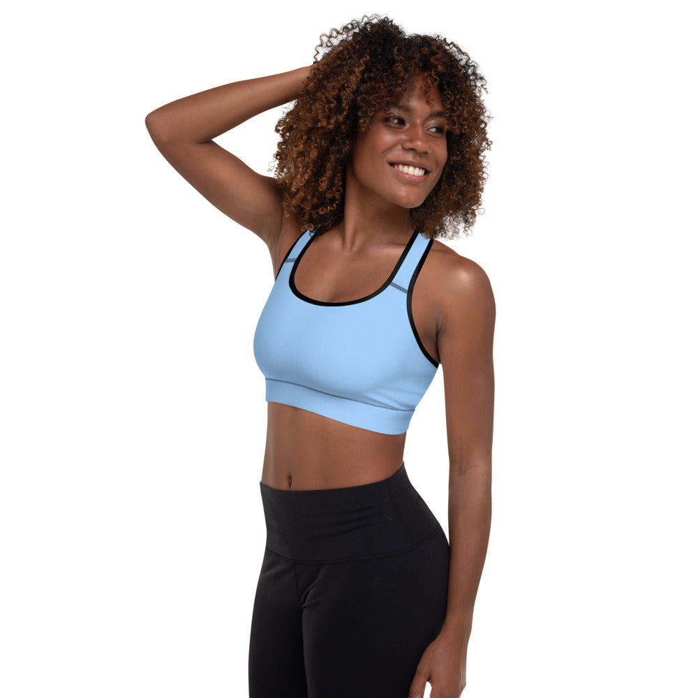 Sky Blue Padded Sports Bra