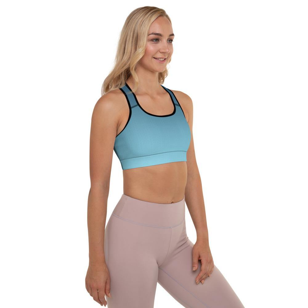 Arctic Sky Ombre Padded Sports Bra - HAVAH