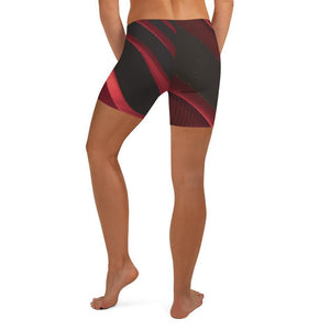 Crimson Low Waist Shorts - HAVAH