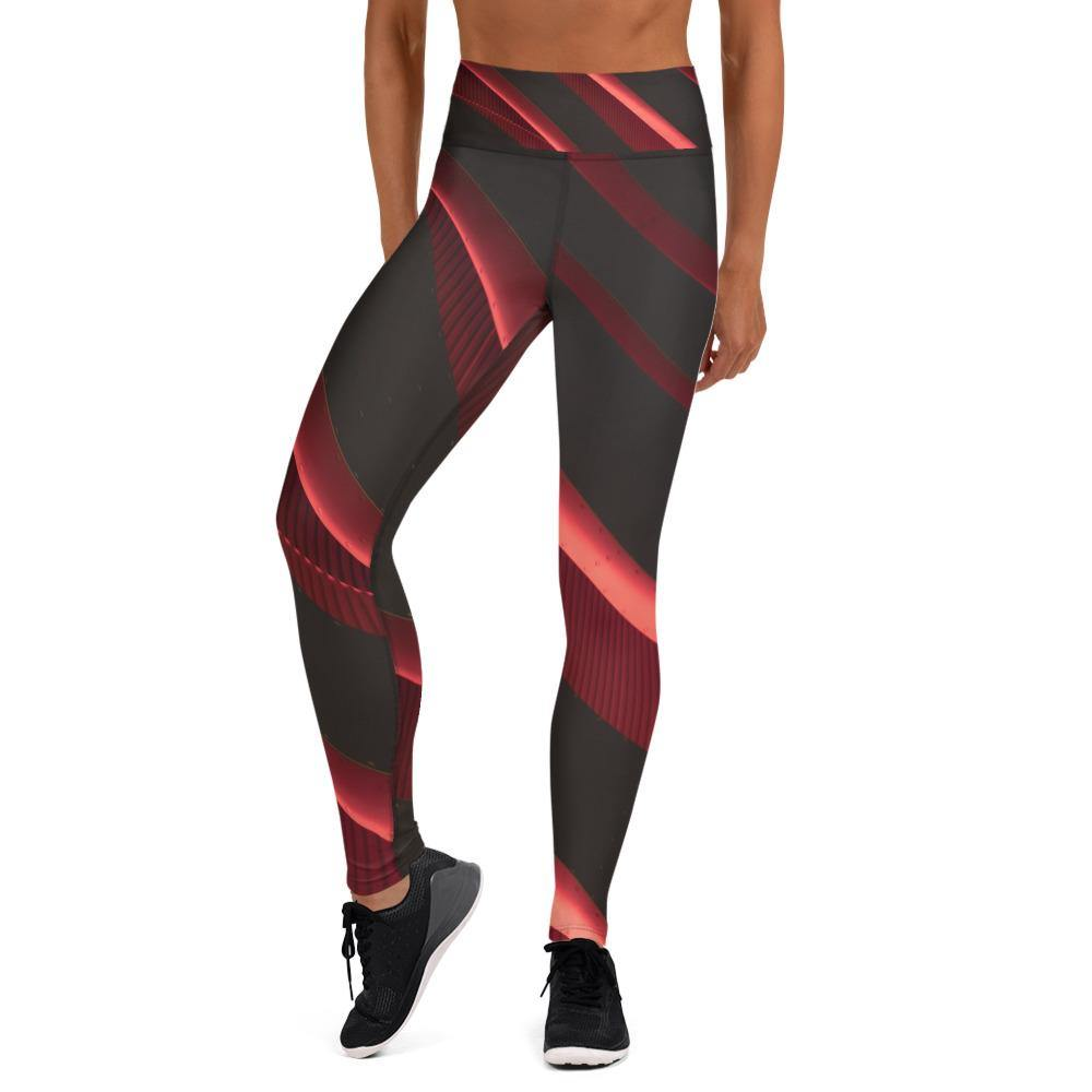 Crimson High Waist Leggings - HAVAH