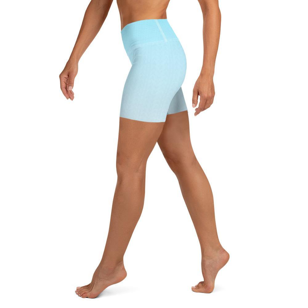Arctic Ice Ombre High Waist Shorts - HAVAH