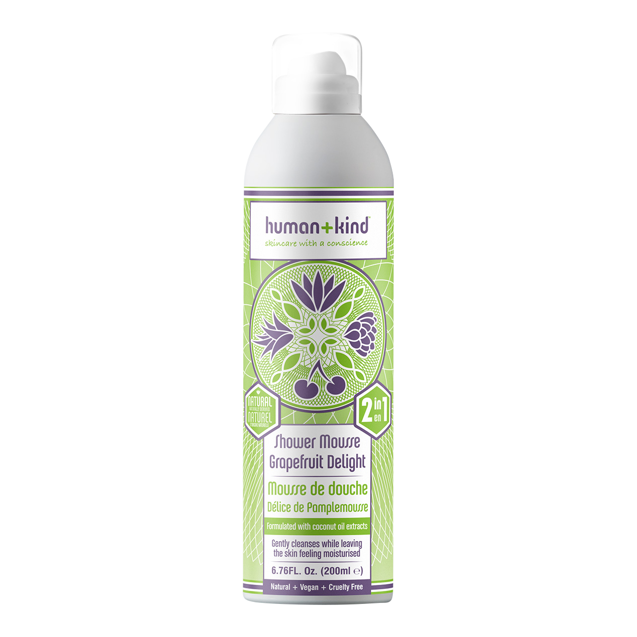 Human + Kind Shower Mousse Grapefruit Delight