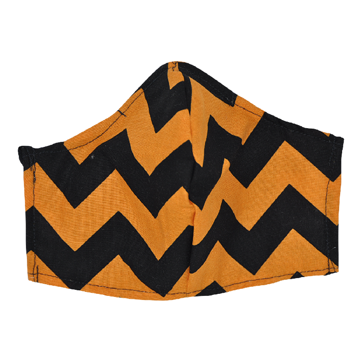 Orange and Black Chevron- Non Surgical Face Mask
