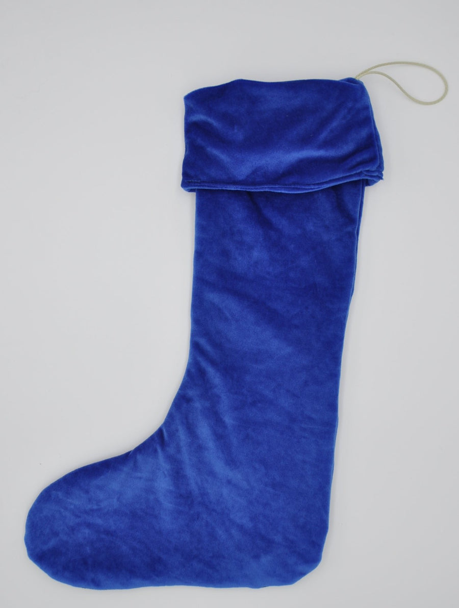 Christmas Stocking - Electric Blue Velvet