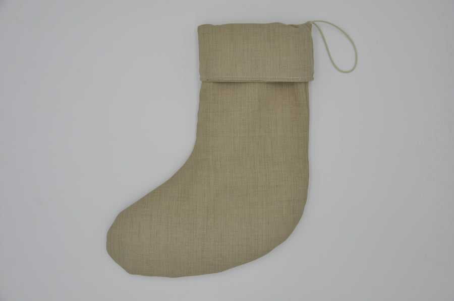 Christmas Stocking - Organic Beige - small