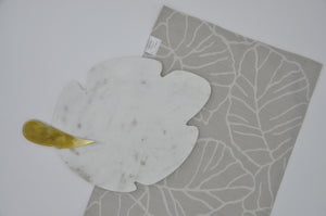 Place Mats - Taupe Leaf