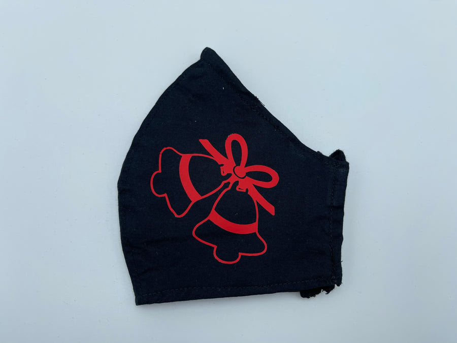 Christmas theme - Jingle bells on black - Non Surgical Mask