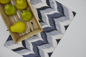 Place Mats - Navy Blended Chevron