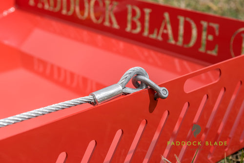 paddock blade red close up