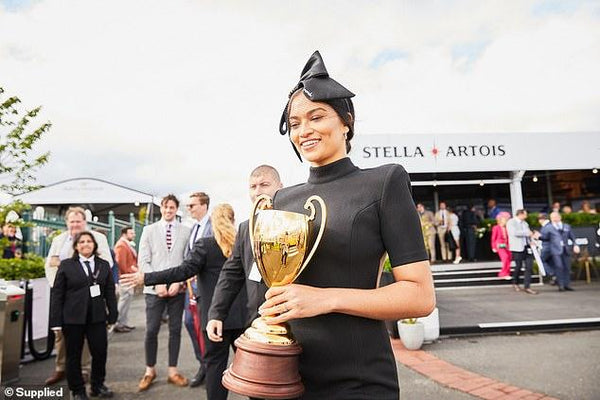 Shanina Shaik best dressed at the Caufield Cup!