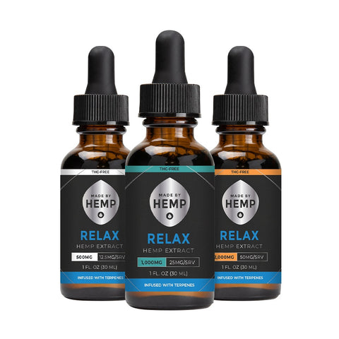 Image of Relax THC Free CBD Tincture (500mg, 1000mg, 2000mg)