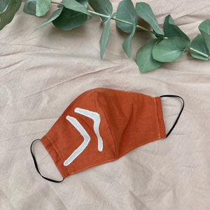 Rust Arrows Organic Cotton Face Mask