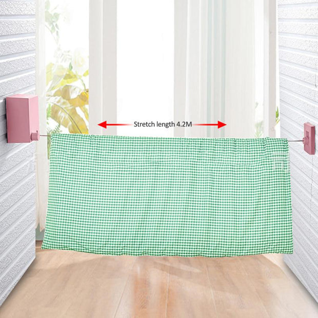 Retractable Clothesline Laundry Hanger