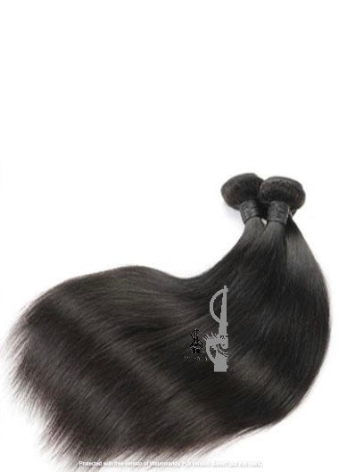 Straight Raw Virgin Indian 12A Grade Human Hair Weave Bundles Extensions