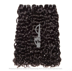 Water Wave Raw Virgin Indian 12A Grade Human Hair Weave Bundles Extensions