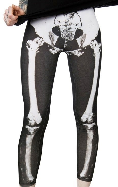 Day of the Dead Skeleton Bone X-Ray Leggings