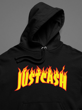 "Load image into Gallery viewer, ""JU$T CA$H"" Fire Logo Hoodies"