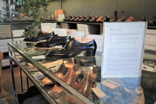 World Champion Shoes on display at Skomaker Dagestad