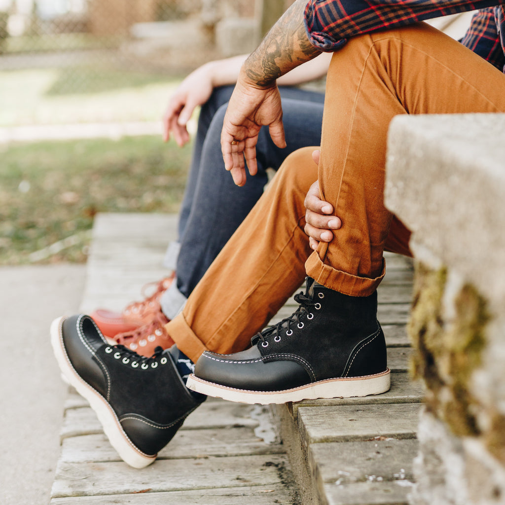 Red Wing Limited Edition 8818 Black Moc Toe